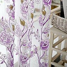 Litale Transparenter Vorhang Pfingstrose Blume