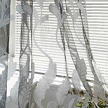 Litale Weißer transparenter Vorhang Kreativer