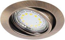 Lite bronze LED Einbaustrahler Set
