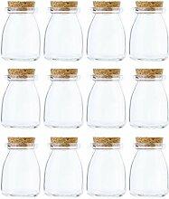 Litehaus 12er Kleine Füllmenge Glasdose mit
