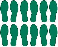 LiteMark Vinyl-Aufkleber mit Fußabdruck-Motiv,