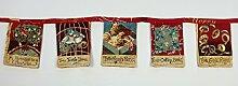 Litha-Quilts Deko-Girlande 12 Days Before Christmas