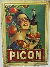 Lithographiertes Picon Blechschild von Sirven,