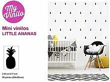 Little Ananas–Mini Aufkleber Schwarz