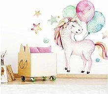 Little Deco Wandtattoo Einhorn & Luftballons I