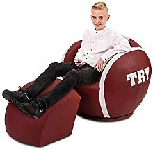 Little Devils Direct X-Large Rugby Ball Chair–Kinder, Kinder & Erwachsene Spiele Sofa (4yrs-18yrs * ca.)