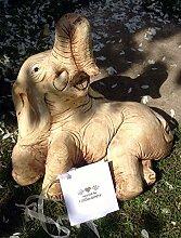 LittleGems Stein Elefant Statue Skulptur Ornament