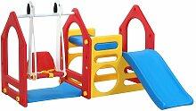 Littletom - Kinder Spielhaus mit Rutsche Schaukel