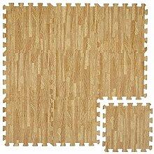 LittleTom Puzzlematte Laminat-Muster Holz-Optik Spielmatte Spielteppich Schaumstoff Puzzle Kinderteppich