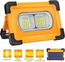 LITZEE Wiederaufladbares LED-Flutlicht 80W 4000