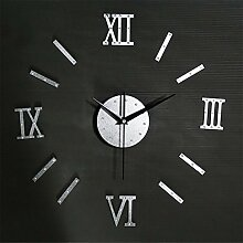 LIU-Kombination 3D Rivet Roman Digital Wall Clock