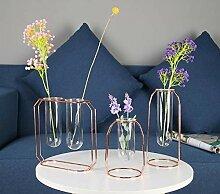 liu Transparente Glas Eisen Vase Blumentopf