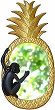 Liucuifang Spiegel, oval, für Wohnzimmer, Ananas,
