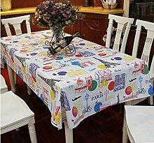 Liudaye PVC-Plastik Tischdecke