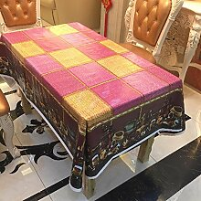 Liudaye PVC-Tisch-Tischdecke mit vorgestellten