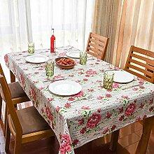 Liudaye Tabelle Frühling Leinen Tischdecke Retro