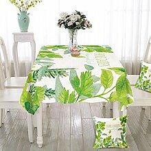 Liudaye Tischdecke Pflanze Baumwolle Leinen
