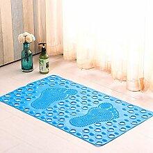 liuhoue Badezimmer matte, Gepolsterte fußauflage pvc dick badewanne, Massage badvorleger-H 47cm*77cm