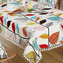 liuhoue Baumwoll Leinen tischdecken Tuch Frischer
