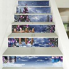 liuhoue Personalisierte Treppe Wandtattoo,