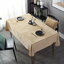 LIUJUAN Tischdecke Reine Farbe Nordische
