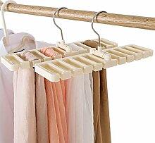 Liumei 10 Schlitze Krawattenhalter für Schal und
