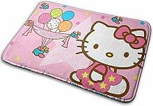 Liumt rutschfeste Polyester Fußmatte Hello Kitty