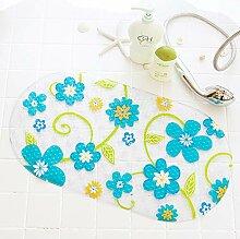 LIUQIAN Blaue grüne Blume Bad Anti-Rutsch-Pad WC