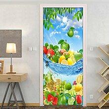 liuweidedian PVC Selbstklebende Kreative Tür