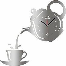 LIUXIAOJIE Wanduhr spiegeleffekt kaffeetasse Form
