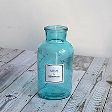 liuxingfeiguo Mini transparentem Glas kleine Vase