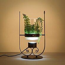 LIUYU Kreative Potted Tischlampe, moderne nordische Art, Wohnzimmer / Studie / Büro / Café / Pflanze Tischlampe (schwarz)