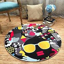 Liuyu·Küche zu Hause Kreative runde Teppiche Schlafzimmer Wohnzimmer Teppiche Computer Stuhl Matten ( größe : Diameter 100CM )