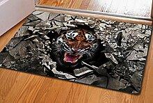Liuyu·Küche zu Hause Sprengstoff Zerkleinerte Stein Tier True 3D Anti-Rutsch Natur Gummi Matten Teppich Tür Matte 60 * 40 ( Farbe : A )