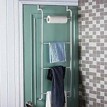 LIUYU Orange? 1Set Bad Handtuch Bars Badezimmer Regale Tür Haken Wc Racks L40 * 3 * H110Cm