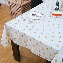 LIUYU runde Tischdecke für Hotels / Garten Tischdecke / Restaurant Tischdecken Stoff / Bankett Kiste Tischdecke -D 140X180Cm (55X71Inch),B, 120x190cm (47x75inch)