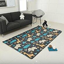 LIUZEIMIN Pvc baby krabbeln matte,Sichere kinder puzzle spielmatte Teppich für innen und außen zu spielen 210 * 140 * 1.4cm-C 225*140*1.5cm