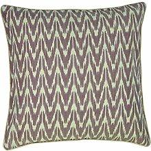 LIV INTERIOR Cushion Cover, Ikat, Zigline, Mauve