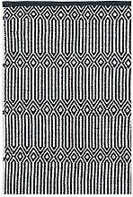 LIV INTERIOR Teppich Braid schwarz weiß 120 x 55