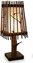 livasia Asiatische Tischlampe Schirm Tischleuchte