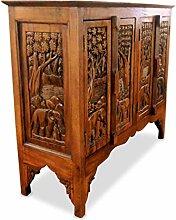 livasia Asiatisches Sideboard aus Massivholz,