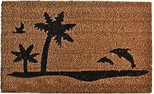 Liveinu Kokosfaser Schmutzfangmatte Fußmatte