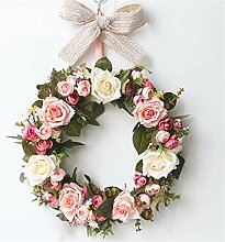 Liveinu Künstlicher Kranz Blumen Türkranz