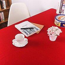 Liveinu Leinen Tischdecke mit Mordern Einfarbig