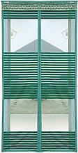 Liveinu Magnet Fliegengitter Tür Insektenschutz Magnet Moskitonetz Fliegenvorhang für Balkontür Wohnzimmer Schiebetür Terrassentür Klebmontage Ohne Bohren Grün 90x220cm
