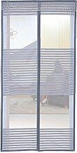 Liveinu Magnet Fliegengitter Tür Insektenschutz Magnet Moskitonetz Fliegenvorhang für Balkontür Wohnzimmer Schiebetür Terrassentür Klebmontage Ohne Bohren Grau 75x200cm