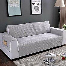 Liveinu Sofaüberwurf mit Rutschfest Taschen