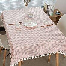 Liveinu Tischdecke mit Pompons Eckig Abwaschbar