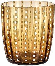 LIVELLARA MILANO Carneval Bernstein Glasbecher -