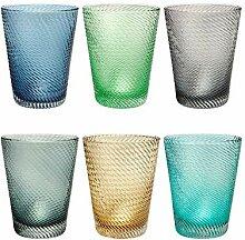Livellara Twister Trinkglas | Elegantes 6-er Set
